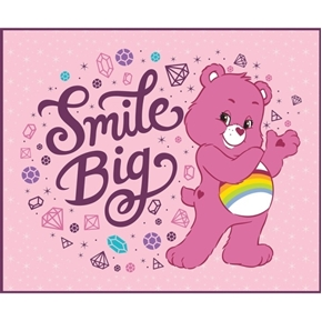 Care Bear Sparkle and Shine Smile Big Large Cotton Fabric Panel