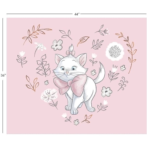 Disney Sentimental Aristocats Marie Pink Large Cotton Fabric Panel