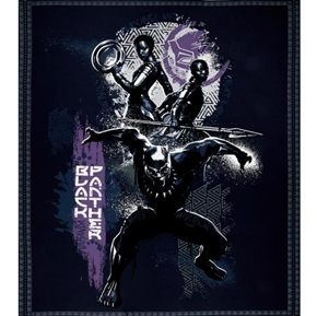 Marvel Comics Black Panther Wakanda Large Cotton Fabric Panel
