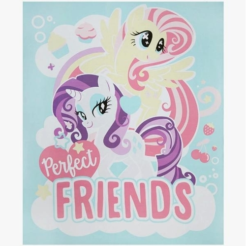 My Little Pony Perfect Friends MLP Hasbro Large Cotton Fabric Panel