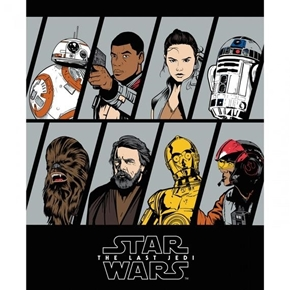 Star Wars 8 Last Jedi Resistance Character Large Cotton Fabric Panel