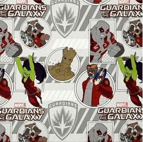 Marvel Comics Guardians of the Galaxy Action Cotton Fabric