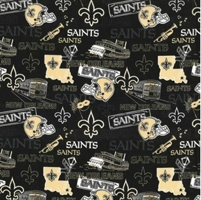 NFL Football New Orleans Saints Hometown Black and Gold