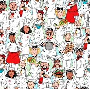 Chef's Special Packed Chefs Cooks Cooking Culinary Cotton Fabric