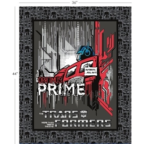 Transformers Style Optimus Prime Hasbro Large Cotton Fabric Panel