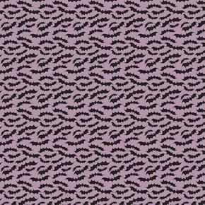 Fab-Boo-Lous Black Bats on Gray Halloween Cotton Fabric