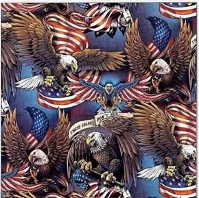 Pride and Courage Flags Eagles These Colors Don't Run Cotton Fabric