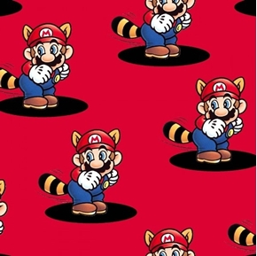 Picture of Nintendo Mario Pop Up Super Mario Video Game Red Cotton Fabric