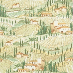 Picture of Bella Toscana Italian Countryside Vineyards Italy Cotton Fabric