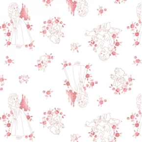 Picture of Disney Forever Princess Snow White Toile Red on White Cotton Fabric