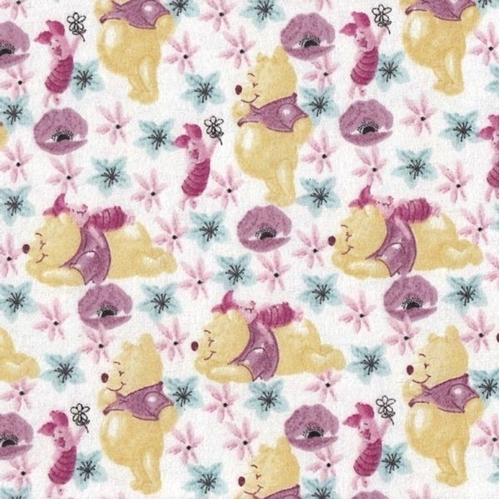Picture of Flannel Disney Winnie the Pooh and Piglet Friends Cotton Fabric