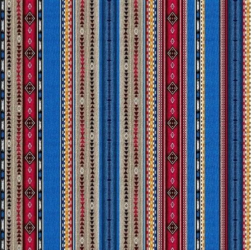 Picture of Dreamweaver Southwest Aztec Native American Stripe Cotton Fabric