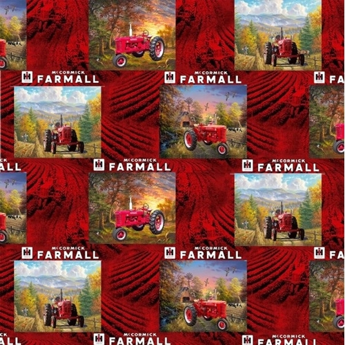 Picture of Farmall Tractor Patch Country Living McCormick Farmall Cotton Fabric