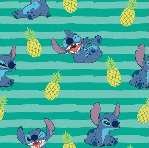 Picture of Disney Lilo and Stitch Stitch Expressions on Stripes Cotton Fabric