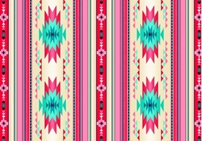 Picture of Tucson Southwest Aztec Native American Pink Small Stripe Cotton Fabric