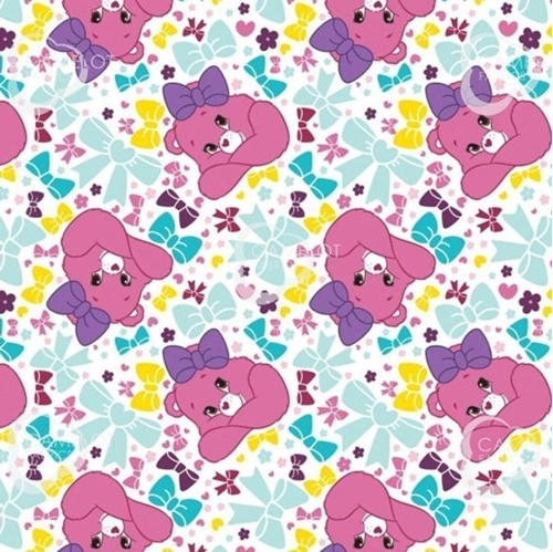 Picture of The Care Bears Sparkle and Shine Pretty Bow White Cotton Fabric