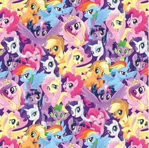 Picture of My Little Pony Packed Pony Magic Rainbow Dash Hasbro Cotton Fabric