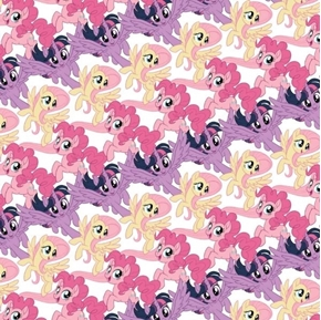 Picture of My Little Pony Collection Pony Stripes Pony Dolls Hasbro Cotton Fabric