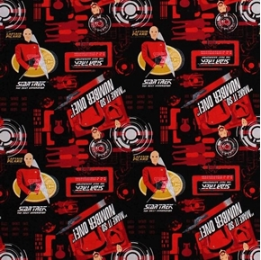 Picture of Star Trek The Next Generation Red Uniforms Capt Picard Cotton Fabric