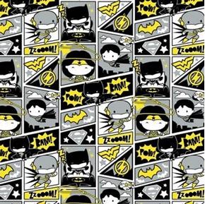 DC Comics Comic Book Justice League Batman Kawaii Cotton Fabric