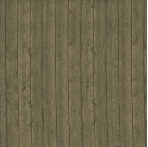 Wood Plank Wooden Barn Wall or Floor Taupe Brown Cotton Fabric