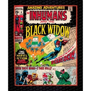 Marvel Comics III Avengers Black Widow Cotton Fabric Panel