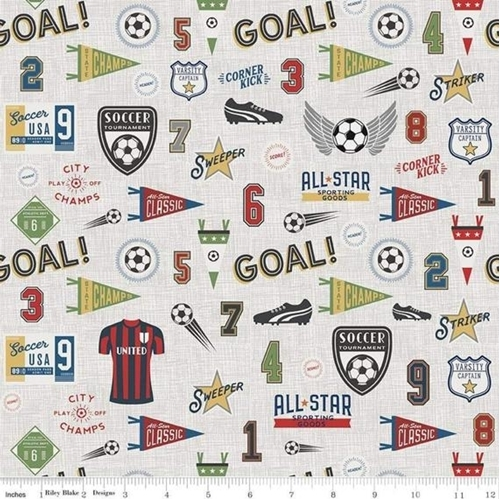 Varsity Sports Soccer Terms and Equipment Red Jersey Cotton Fabric