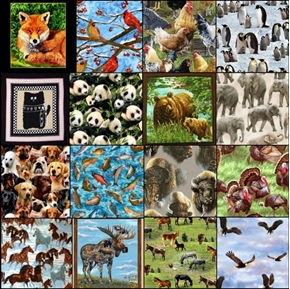 Animal Fabric One Pound of Large Size Scraps for Masks