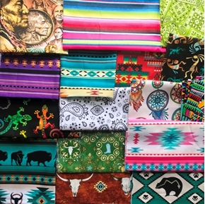 Southwestern Fabric One Pound of Large Size Scraps for Masks