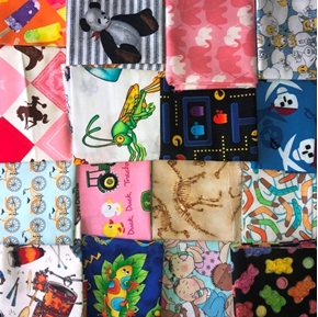 Childrens Fabric One Pound of Large Size Scraps for Masks