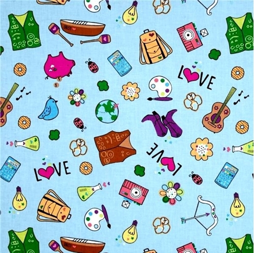 Girl Scouts Scout Things Pins Vests Activities Blue Cotton Fabric