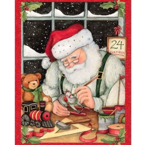 Picture of Christmas Eve Santa Toys Susan Winget Holiday Cotton Fabric Panel