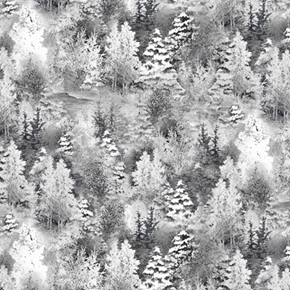 Back Home for the Holidays Tonal Pine Trees Winter Tree Cotton Fabric
