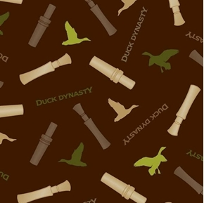 Duck Dynasty Duck Call Toss Wooden Call Whistles Brown Cotton Fabric