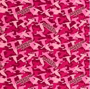 Duck Dynasty Duck Camo Camouflage Pink Cotton Fabric