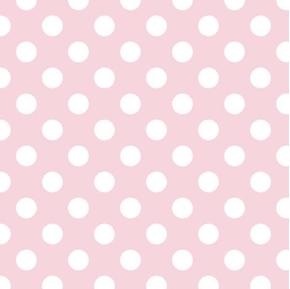 Safari Baby Dot White 3/4 Inch Polka Dots on Pink Cotton Fabric