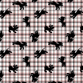 Disney 101 Dalmatian Family Dalmatians Puppy Plaid Cotton Fabric