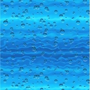 Landscape Medley Water Sparkling Bubbles Blue Water Cotton Fabric