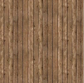 Landscape Medley Brown Barn Siding Wood Planks Cotton Fabric