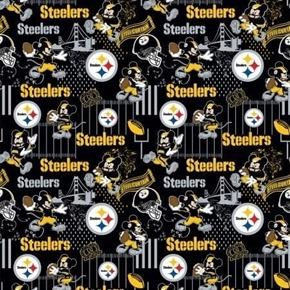NFL Football Pittsburgh Steelers Mickey Disney Mash-up Cotton Fabric