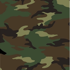 The Great Outdoors Camouflage in Army Colors Camo Cotton Fabric
