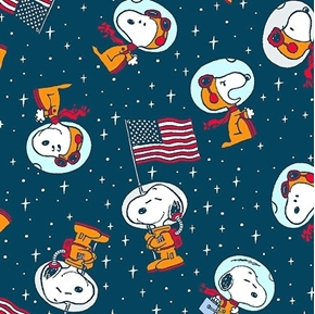 Snoopy Space Toss Astronaut Snoopy with Flags