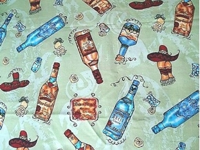 Pleasures and Pastimes Tequila Sombreros Anejo Rare Cotton Fabric
