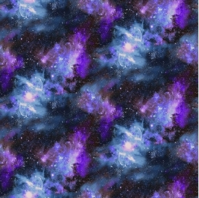 Planetary Missions Galaxy Nebula Stars Outer Space Cotton Fabric