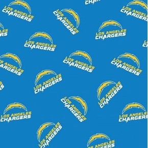 NFL Football Los Angeles Chargers New 2020 Pattern 18x29 Cotton Fabric
