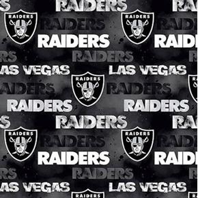 NFL Football Las Vegas Raiders Black 18x29 Cotton Fabric