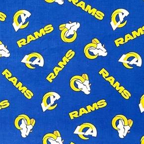 NFL Football Los Angeles Rams New 2020 Pattern 18x29 Cotton Fabric