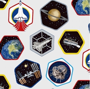 Planetary Missions Patches Space Exploration Satellites Cotton Fabric