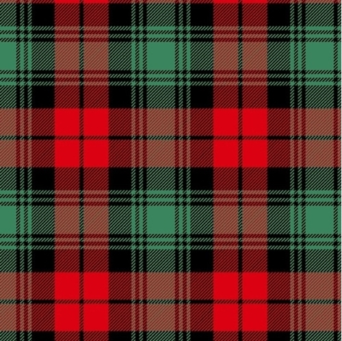 Flannel Plaid Soft Red and Green Christmas Plaid Flannel Cotton Fabric