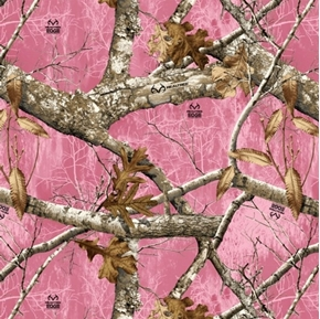 Real Tree Camouflage RealTree Edge 1 Pink Camo Cotton Fabric